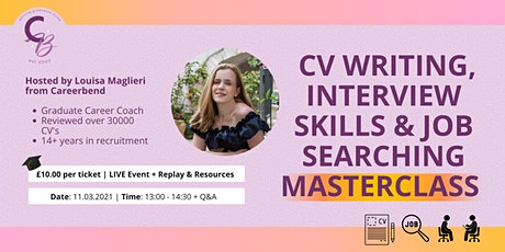 CV Writing, Interview Skills & Job Searching Masterclass tickets