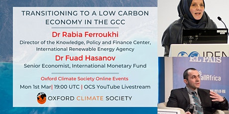 Transitioning to a low carbon economy in the Gulf tickets
