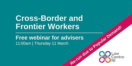 Back by popular demand: Cross Border and Frontier Workers tickets