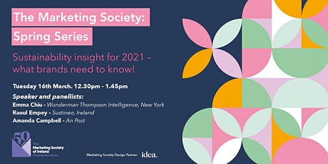 Sustainability insights for 2021 - what brands need to know! tickets