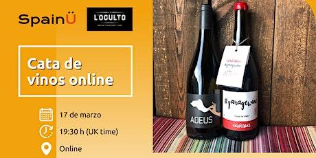 Cata de vinos online con L'Oculto entradas