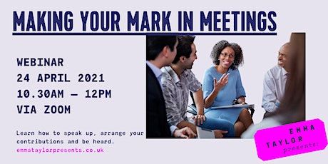 Making Your Mark in Meetings tickets