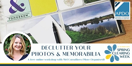 Declutter Your Photos & Memorabilia with Mel Carruthers tickets