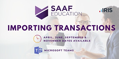 IRIS/ PS Financials: Importing Transactions (SAAFW102) tickets