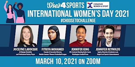 #ChoosetoChallenge Inequity in Sport: International Women's Day 2021 tickets