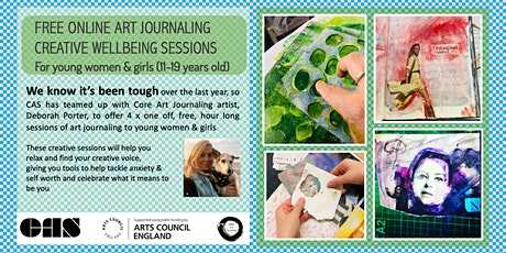 Core Art Journaling - Creative wellbeing sessions for young women & girls tickets