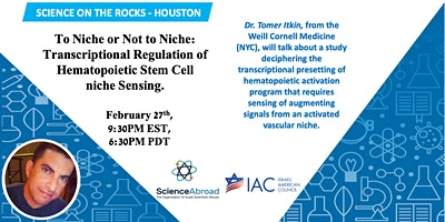 "Science on the Rocks- ""To Niche or Not to Niche""."