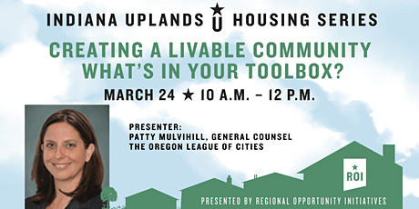 Creating a Livable Community – What's in Your Toolbox? tickets
