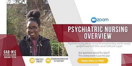 Psychiatric Nursing Overview tickets