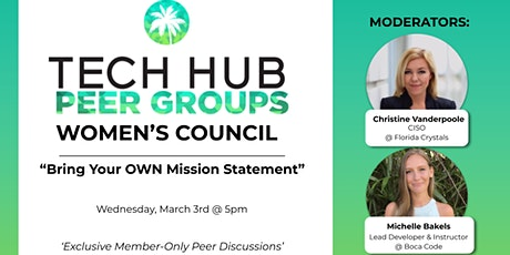 """WOMEN'S PEER GROUP    """"Bring Your OWN Mission Statement"""" Tickets"""