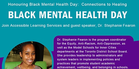 Honouring Black Mental Health Day: Connections to Healing tickets