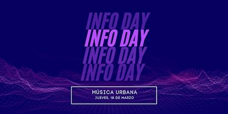 INFO DAY   Producción de Música Urbana entradas