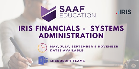 IRIS/ PS Financials – Systems Administration (SAAF112) tickets