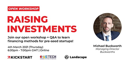 Open Workshop: Buckworths on Raising Investment tickets
