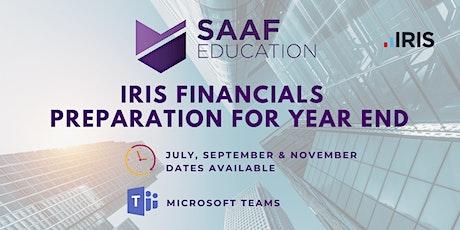 IRIS/ PS Financials - Preparation for Year End (SAAF113) tickets