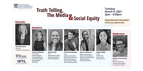 "Truth Telling, The Media, and Social Equity"" tickets"