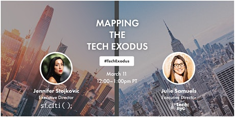 Mapping the Tech Exodus: San Francisco + New York City tickets