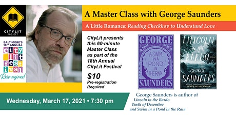 CityLit Master Class with George Saunders tickets