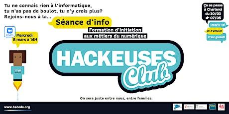 Hackeuses Club - 8 mars - Session info - Initiation Métiers du numérique billets