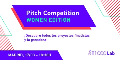Pitch Competition - Women Edition Madrid entradas