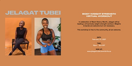 Jelagat Tubei Body Weight Strength Workout - Virtual Zoom Class tickets