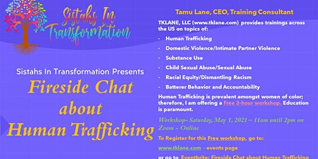 Fireside Chat about Human Trafficking tickets