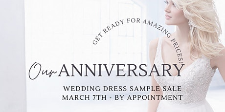 Paula's Elegant Bride Anniversary Wedding Dress Sample Sale tickets