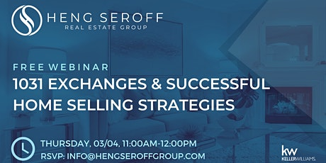 1031 Exchanges & Successful Home Selling Strategies tickets