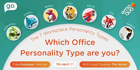 FREE Webinar: 7 Types of Work Personalities: Which one are you? tickets
