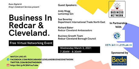 Redcar & Cleveland Business Network - March Virtual Event tickets