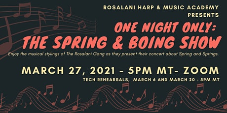 ONE NIGHT ONLY: THE SPRING and BOING SHOW tickets