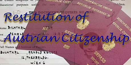 2GN Talk: Restitution of Austrian Citizenship with Q&A Tickets