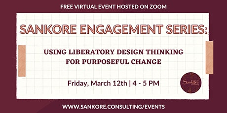 Sankore Engagement Series: Advocacy and Impact tickets