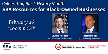 SBA Resources for Black-Owned Small Businesses with Urban League of AR tickets