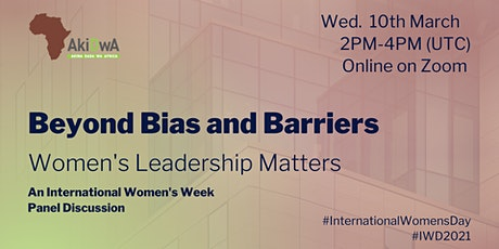 Beyond Bias and Barriers - Women's Leadership Matters tickets