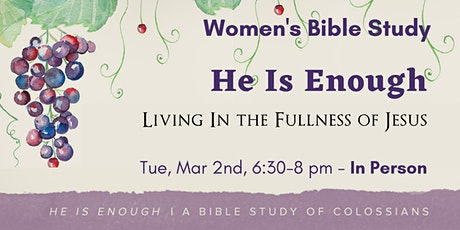 CCOH Women's Bible Study: In-Person tickets