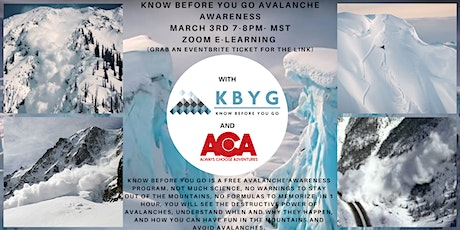 Know Before You Go Avalanche Awareness with Always Choose Adventures tickets