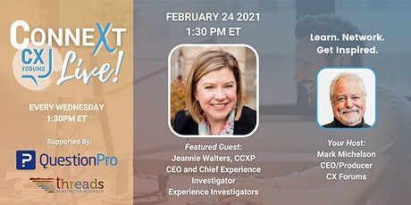 Why a CX Mission Is So Critical To CX Success w/ Jeannie Walters (Replay) tickets