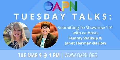 "OAPN Presents: ""Tuesday Talks"" Submitting To Showcase 101 tickets"