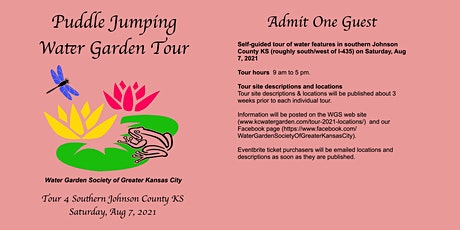 Puddle Jumping Water Garden Tour August 7 tickets