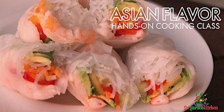 Online Class: Asian Flavor Hands-On Cooking Class tickets