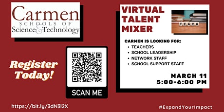 Carmen  Schools Virtual Talent Mixer tickets