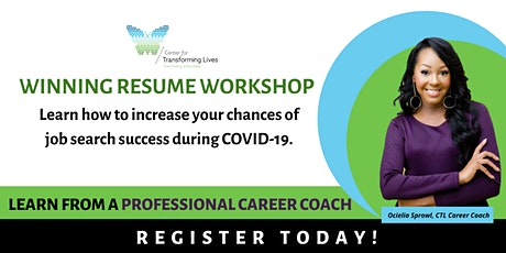 The Winning Resume Virtual Workshop tickets
