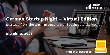 German Startup Night - Virtual Edition - Southeast Asia tickets