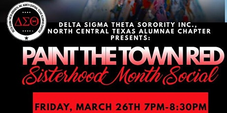 """Paint the Town Red"" with North Central Texas  Alumnae Chapter! tickets"