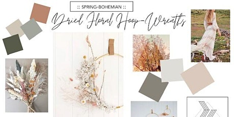 Bohemian Spring Dried Floral Hoop Wreath with Karlie Rebecca Creative tickets