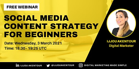 Social Media Content Strategy for Beginners tickets