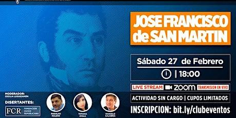 Homenaje a José F. de San Martín. Sábado 27 de Feb. 2021, 18 horas. entradas