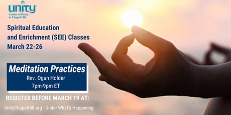 Meditation Practices - Spiritual Education and Enrichment (SEE) Class tickets