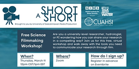Shoot a Short - Virtual Filmmaking Workshop for Researchers tickets